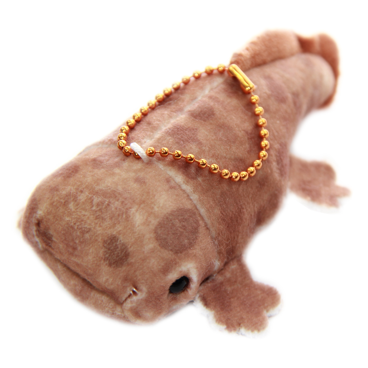 Mochi Puni Salamander Plush Doll, Keychain Size, Brown 4 Inches