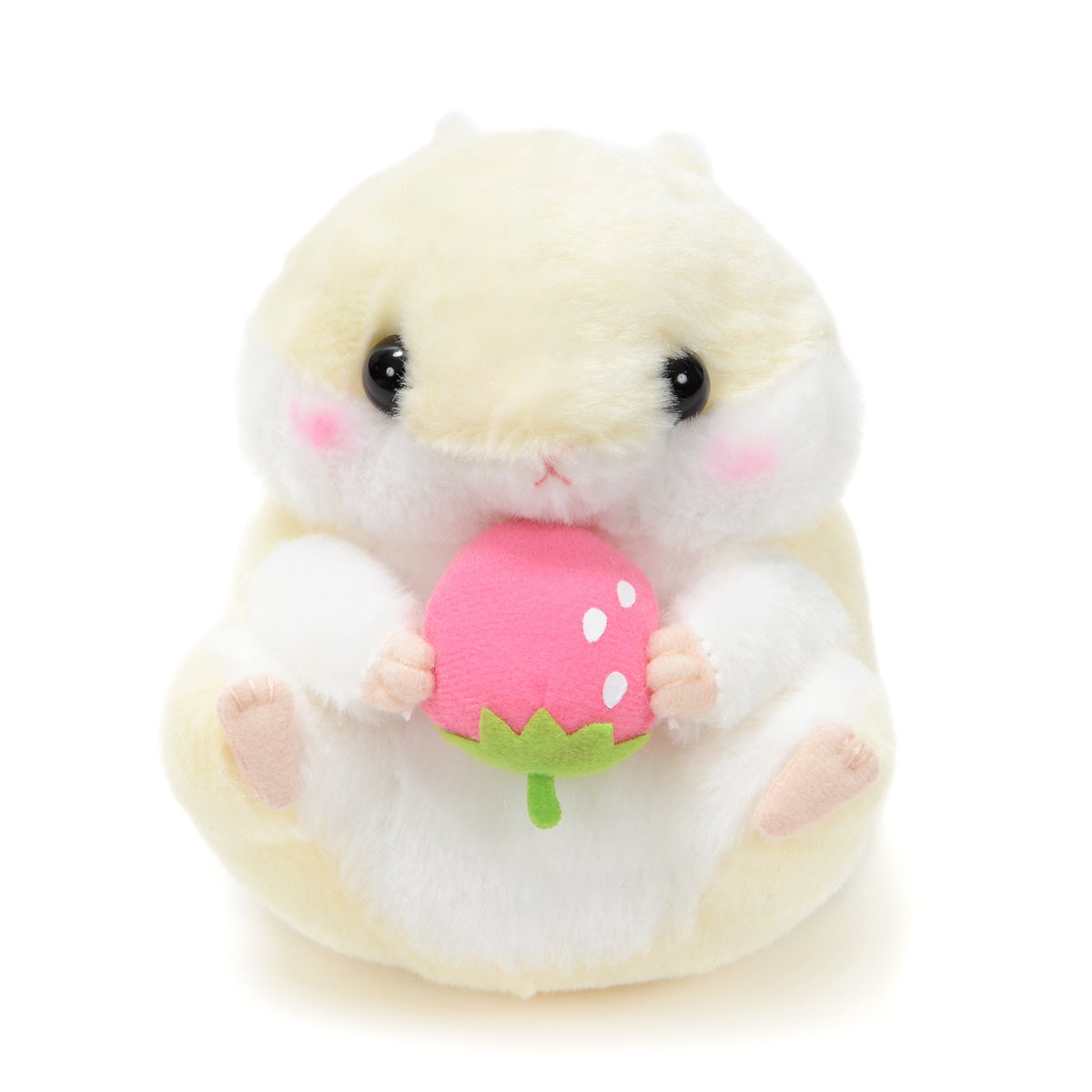 Plush Hamster, Amuse, Coroham Coron, Ichigo Hamster Plush Collection Purin, Yellow, 5 Inches