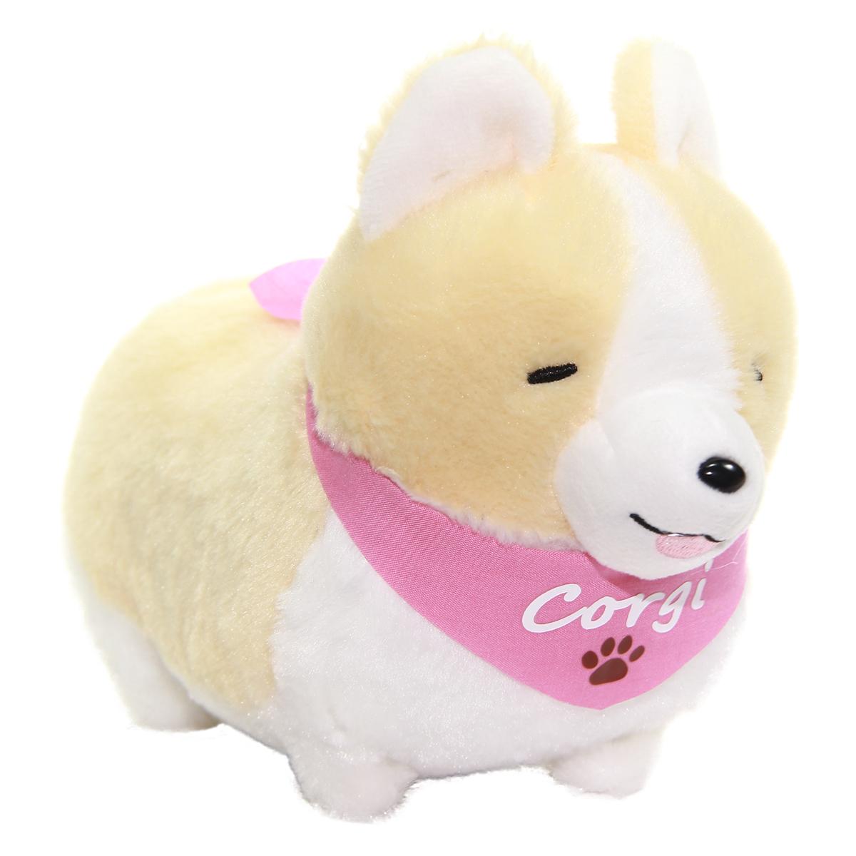 Amuse Ichi Ni no Corgi With Scarf Plush Collection Small Dog Plush Mugi-chan Beige Standard Size 6 Inches