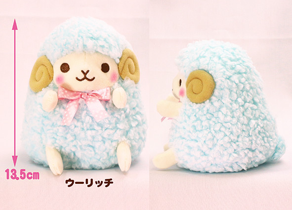 Amuse, Plush Sheep, Hitsuji no Wooly Plush Collection, Blue, 6 Inches, Standard Size