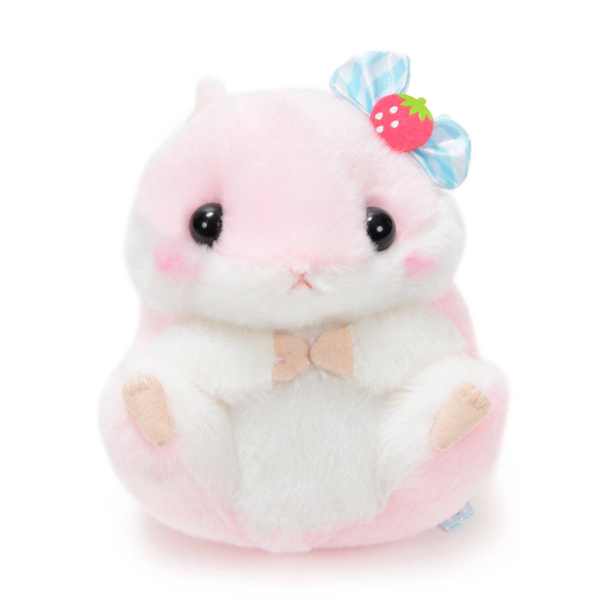 Plush Hamster, Amuse, Coroham Coron, Ichigo Hamster Plush Collection Momo-chan Pink, 5 Inches