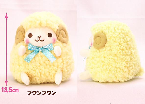 Amuse, Plush Sheep, Hitsuji no Wooly Plush Collection, Yellow, 6 Inches, Standard Size