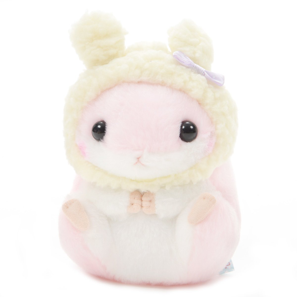 Hamster Plush Doll Amuse Coroham Coron Winter Plush Collection Momo-chan Pink 5 Inches