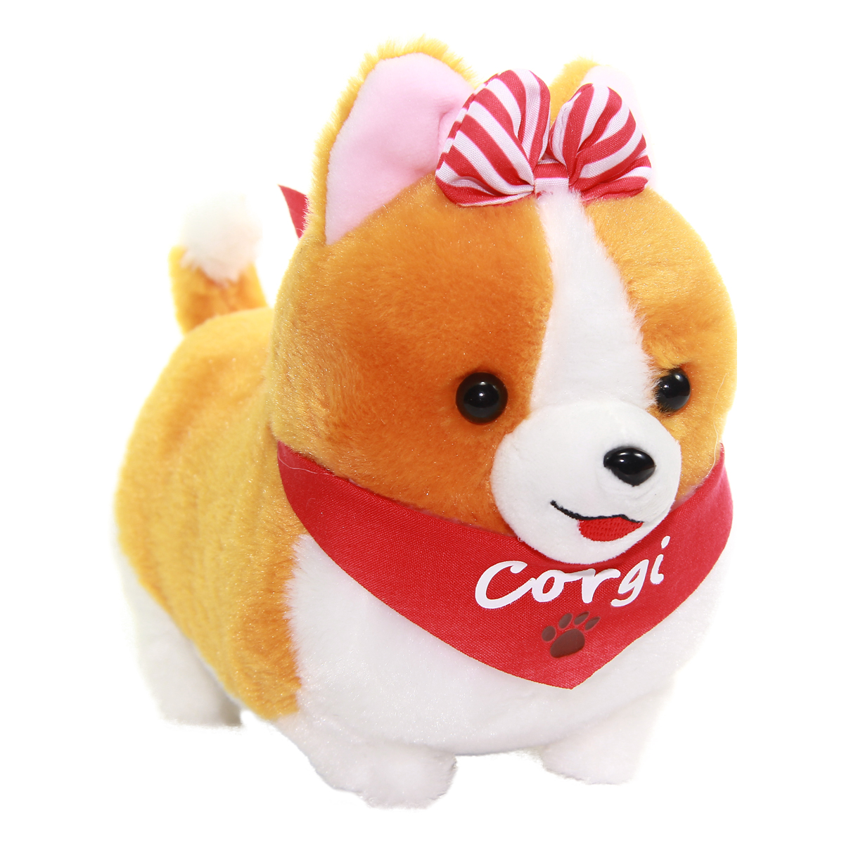 Amuse Ichi Ni no Corgi With Scarf Plush Collection Small Dog Plush Red Scarf Hana-chan Standard Size 6 Inches