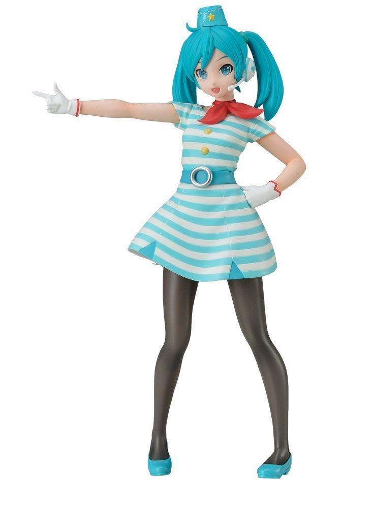 Hatsune Miku, Flight Attendant Figure, Super Premium Figure, CA, Vocaloid, Project DIVA Arcade Future Tone, Sega
