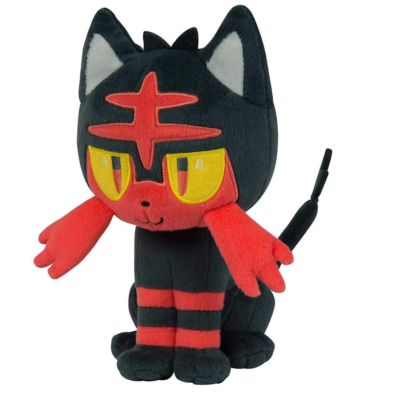 Banpresto, Sun & Moon, Starter Set, Pokemon, Litten Plush Doll, Plush Toy, 10 Inches