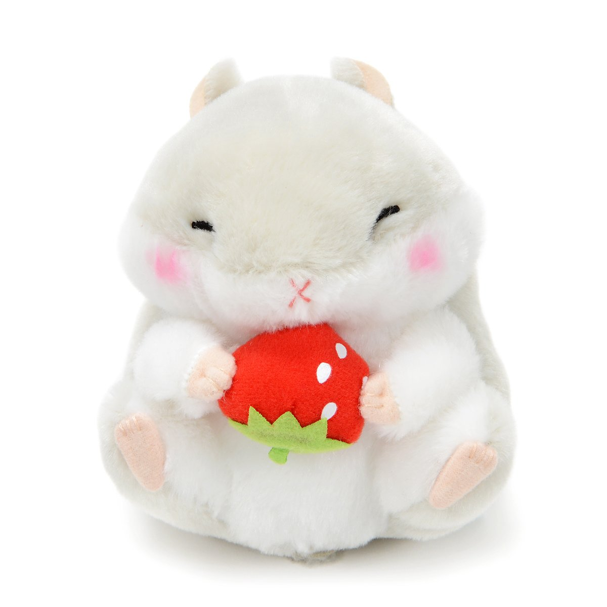 Plush Hamster, Amuse, Coroham Coron, Ichigo Hamster Plush Collection Jan-Kun Grey, 5 Inches
