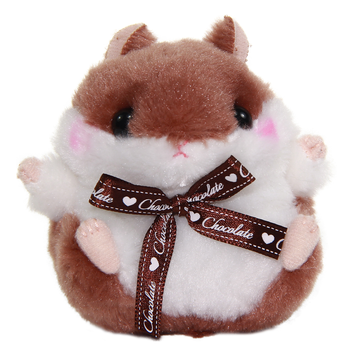 Plush Hamster, Amuse Colorful Fruits Plush Collection, Chocolate-chan, Brown, 4 Inches