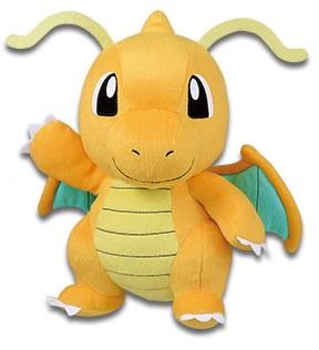 Pokemon Sun & Moon Dragonite Plush Doll 10 Inches Banpresto