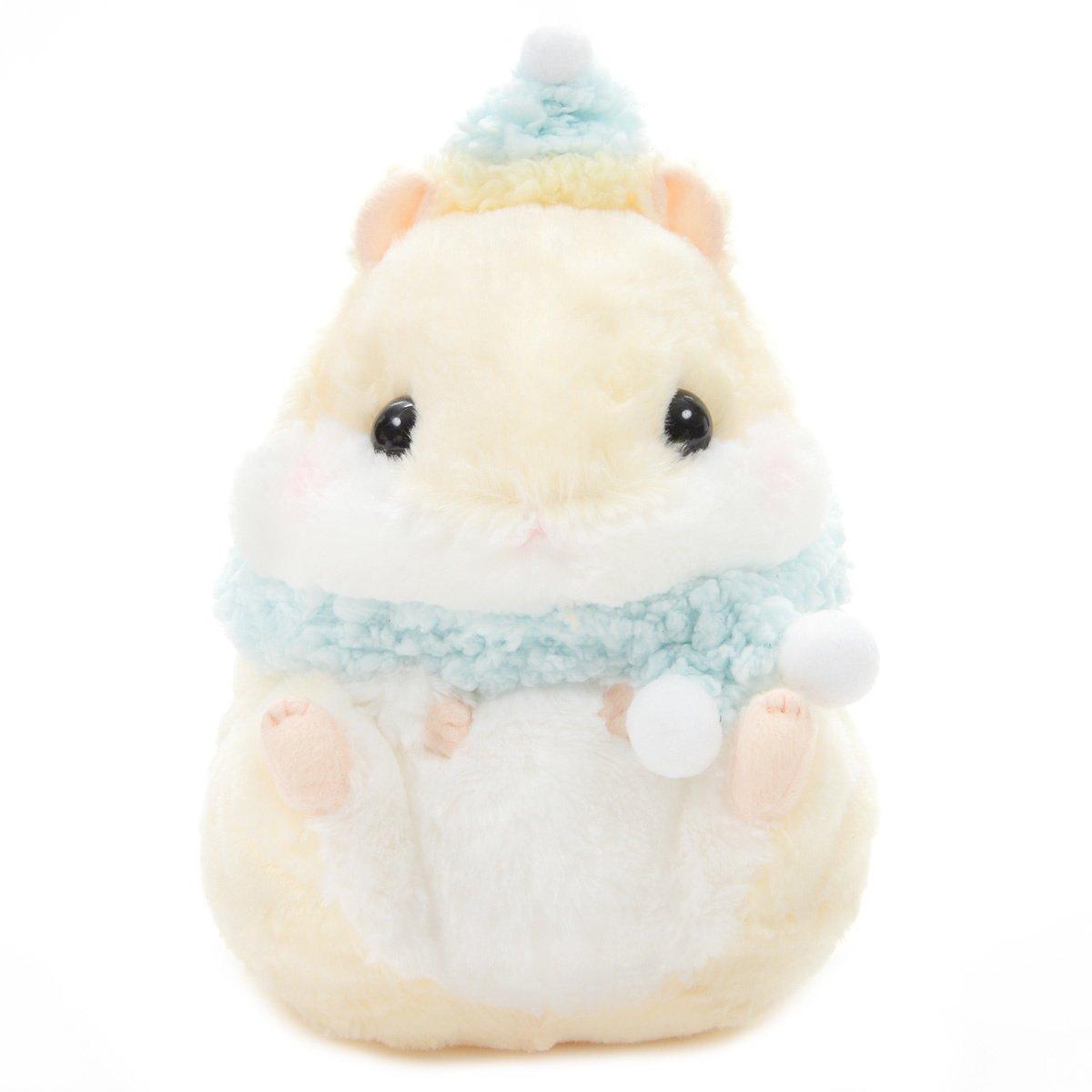 Hamster Plush Doll Amuse Coroham Coron Winter Plush Collection Purin Beige Jumbo 10 Inches