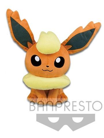 Pokemon Sun & Moon Flareon Plush Doll 11 Inches Banpresto