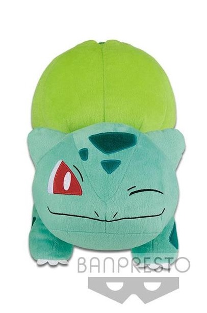 Banpresto, Sun & Moon, Pokemon, Winking Bulbasaur, Plush Toy, 13 Inches, Big Size