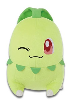 Pokemon Sun & Moon Chikorita Plush Doll 10 Inches Banpresto