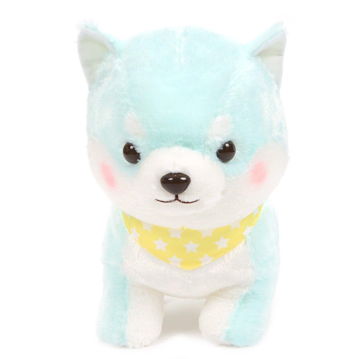 Amuse Dog Plushie, Mameshiba San Kyodai Funwari Yume no Kuni Taiga Pastel Green 15 Inches BIG Size