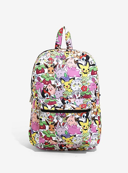 Loungefly Pokemon Print Backpack Book Bag