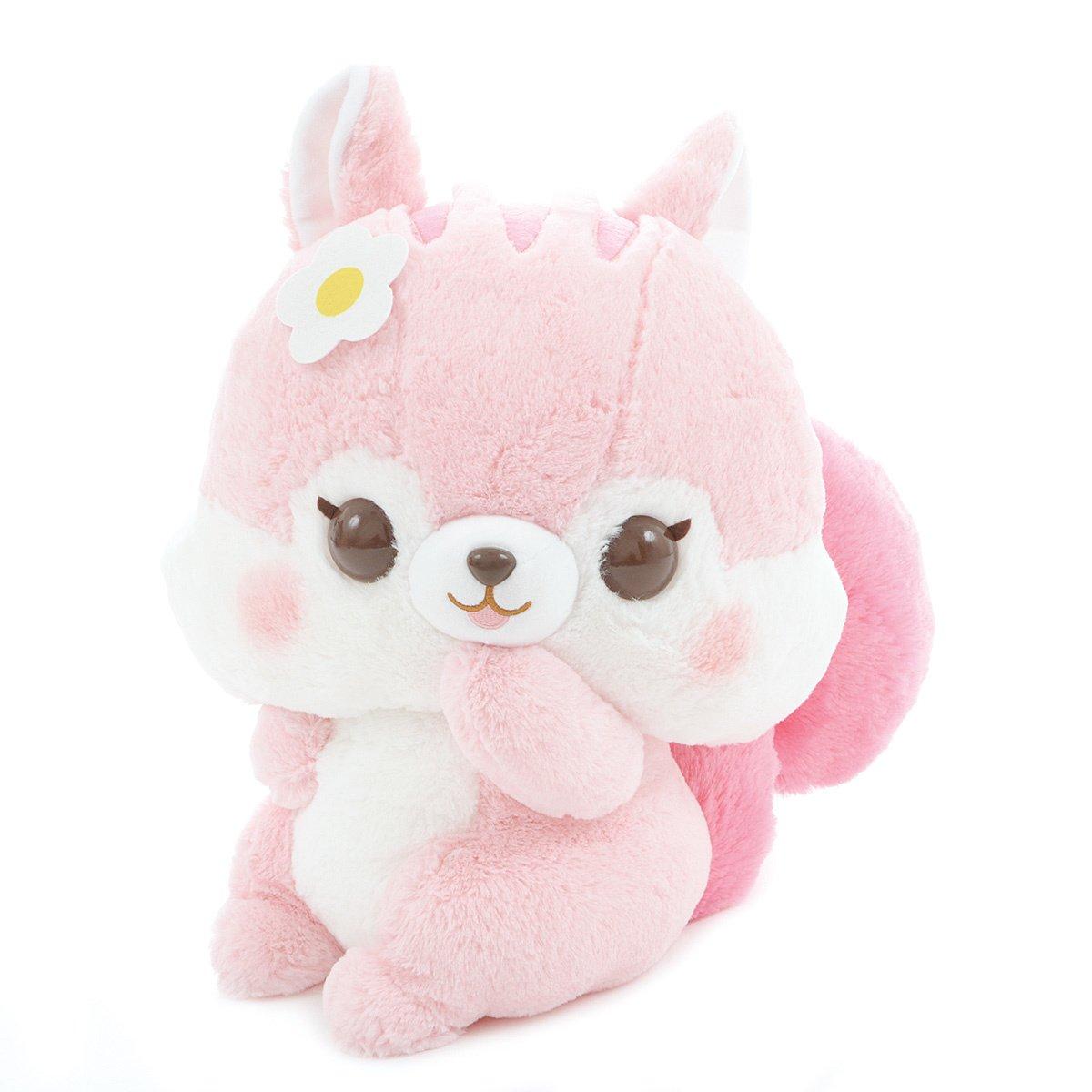 Plush Squirrel, Amuse, Fusappo Nuts Chipmunk, Cheek, Pink, 16 Inches BIG Size
