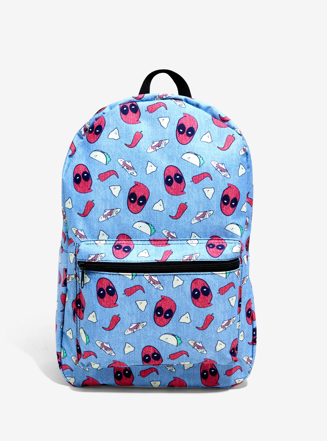 Marvel Deadpool Taco Chillies Backpack Book Bag