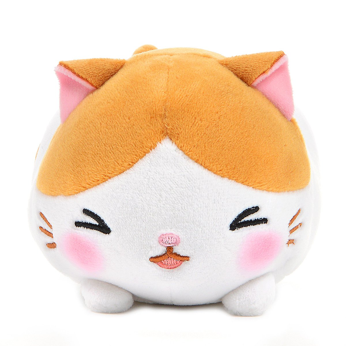 Mochikko Neko Nyanzu White/Orange Cat Plush Amuse Super Soft Japan Standard Size Chibi-nyan
