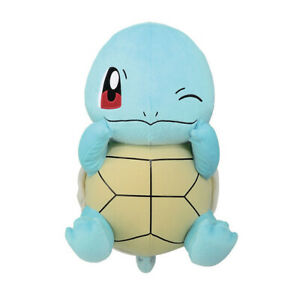 Pokemon Sun & Moon Winking Squirtle Plush Doll 13 Inches Big Size Banpresto