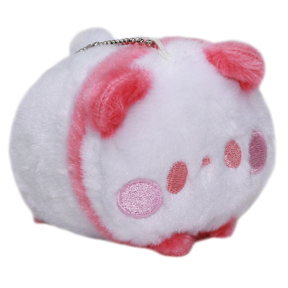 Super Soft Mochii Cute Panda Plush Keychain Dark Pink White 3.5