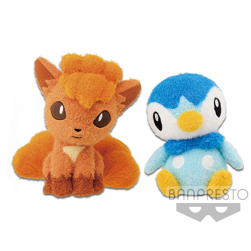 Pokemon Spirits Fuzzy Sitting Piplup Plush Doll 10 Inches Banpresto
