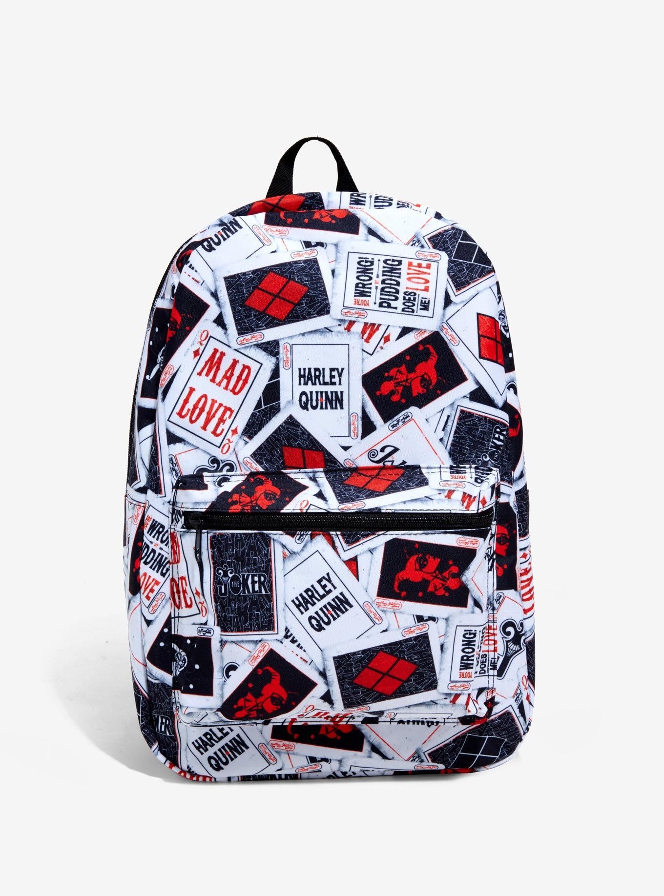 DC Comics  Harley Quinn Card Mad Love Backpack Book Bag