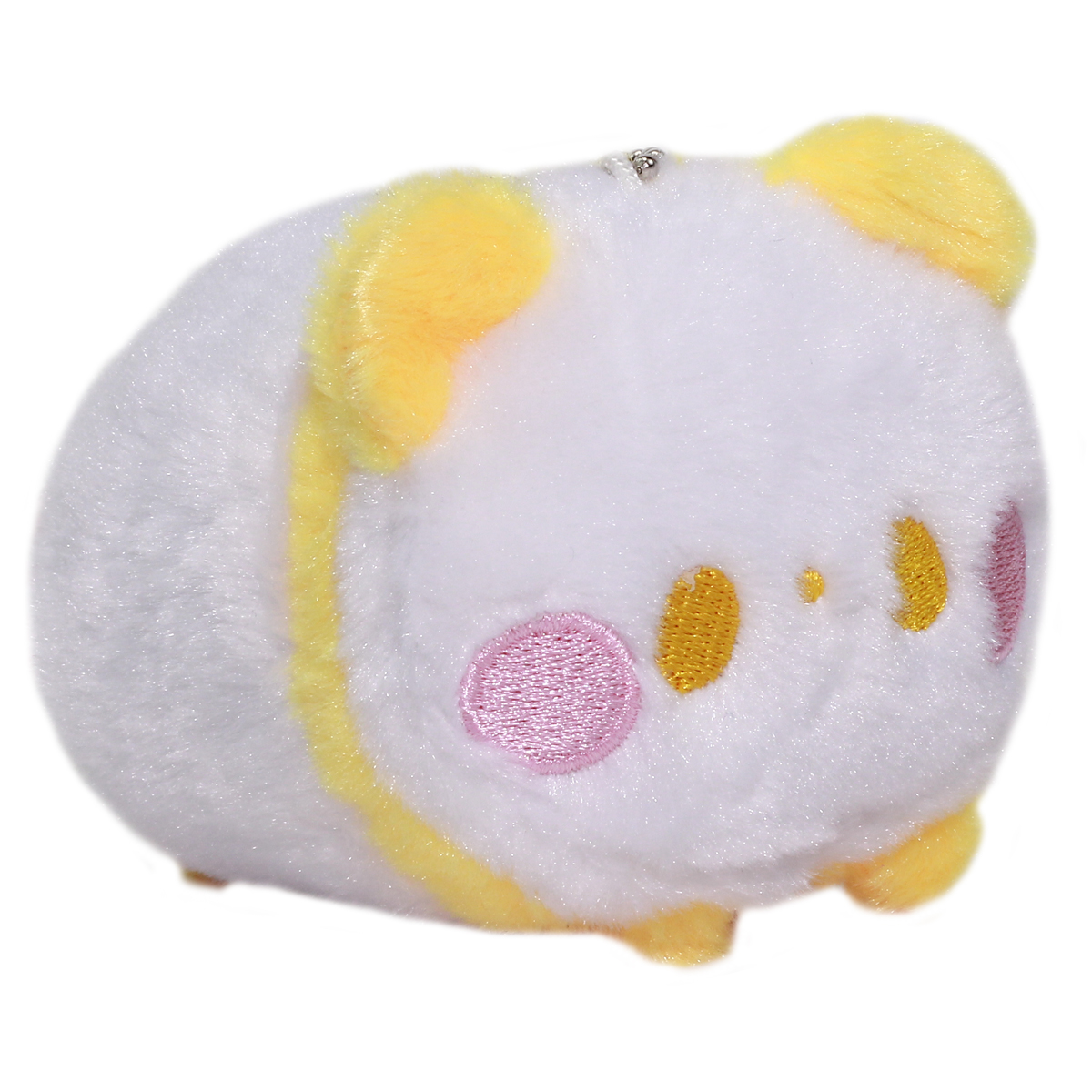 Super Soft Mochii Cute Panda Plush Keychain Yellow White 3.5