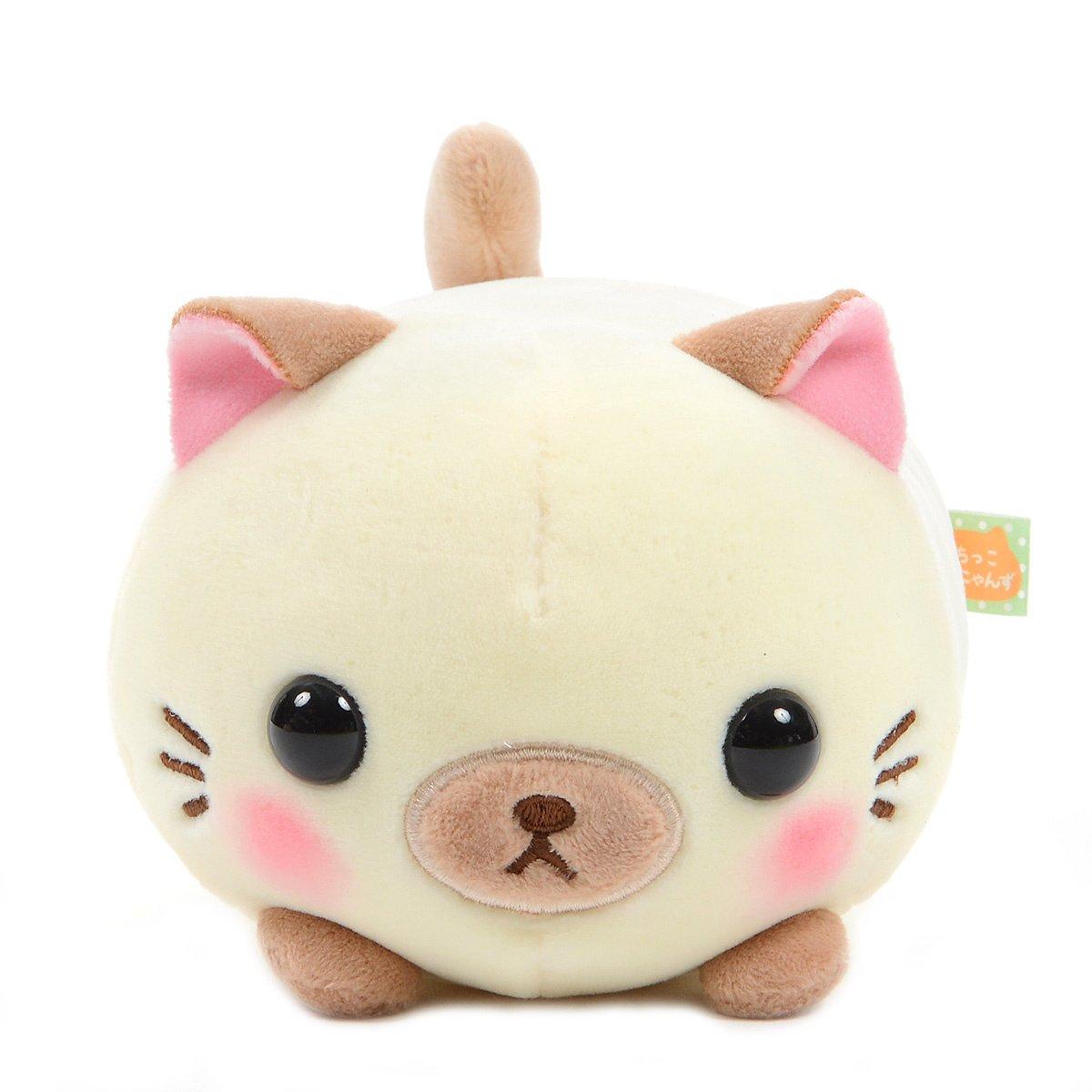 Mochikko Neko Nyanzu Beige Cat Plush Amuse Super Soft Japan Standard Size Shamu-nyan
