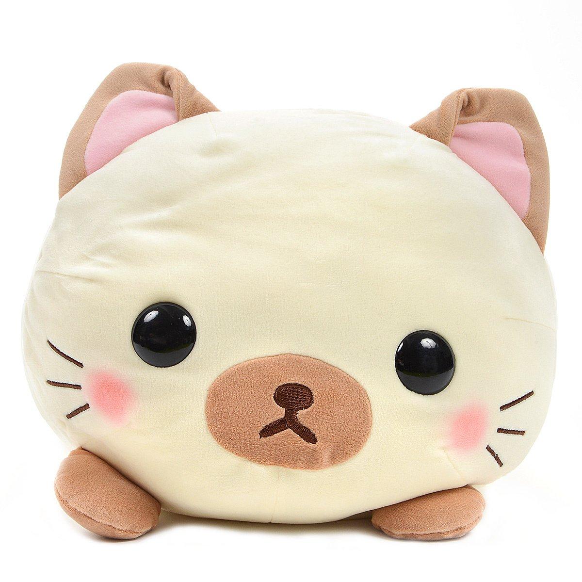 Mochikko Neko Nyanzu Beige Cat Plush Amuse Super Soft JapanBIG Size Shamu-nyan 15 Inches