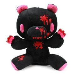 Taito Gloomy Bear Plush Doll Bloody Messy Paradise Black 15 Inches BIG Size