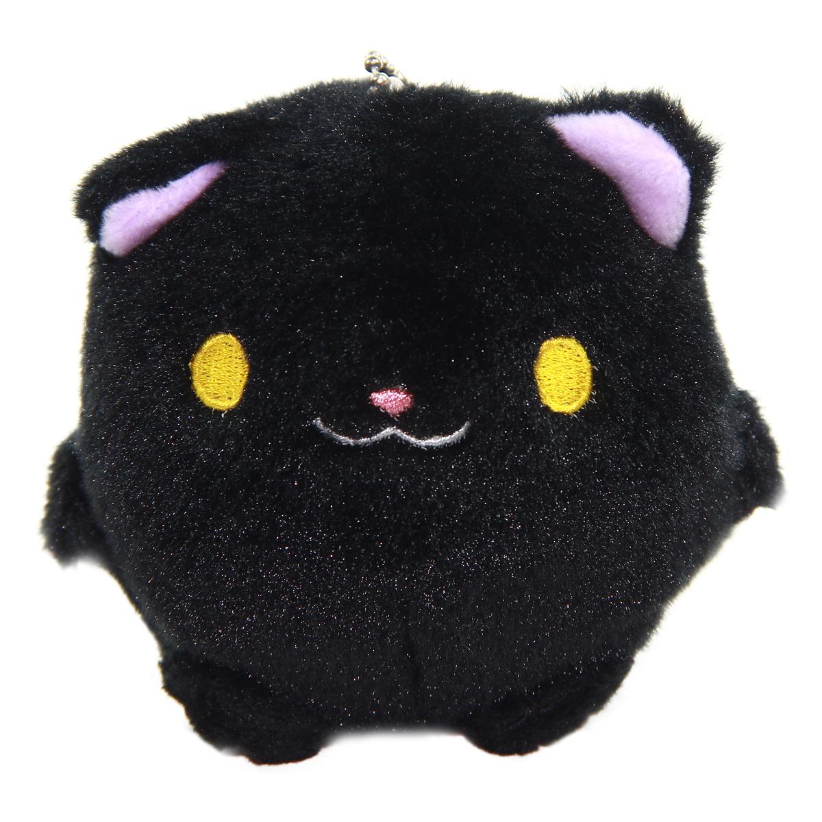Kitten Plush Doll Kawaii Stuffed Animal Soft Fuzzy Squishy Plushie Mochi Black