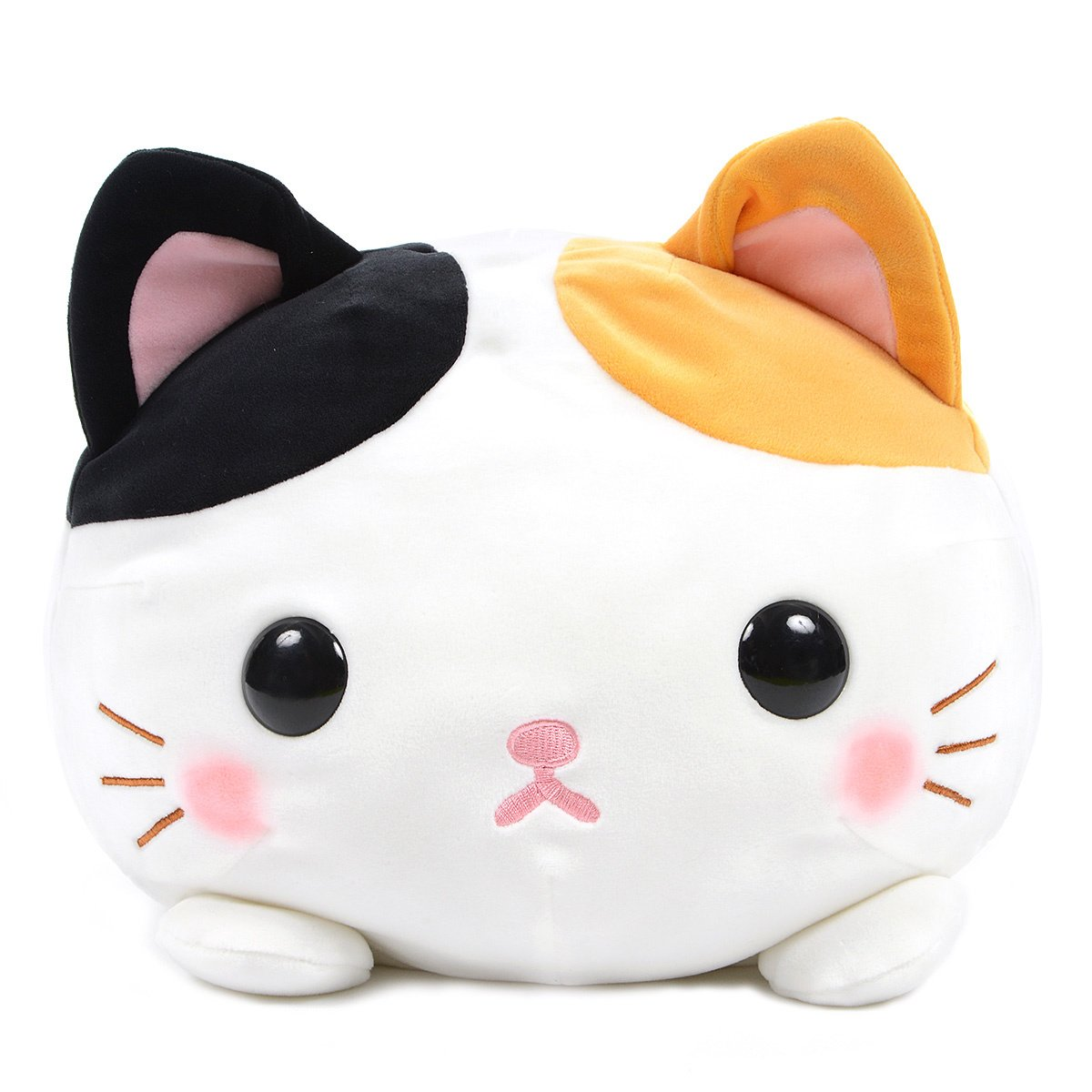 Mochikko Neko Nyanzu White Mix Cat Plush Amuse Super Soft Japan BIG Size Mi-nyan 15 Inches