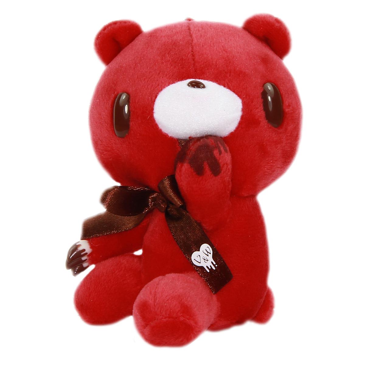 Taito Gloomy Bear Plush Doll Chocolate Sweet V & W Stuffed Animal Japan Red