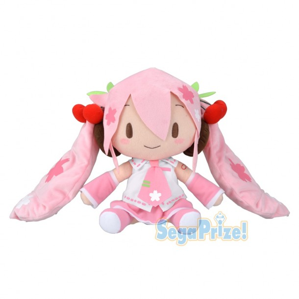 Vocaloid Hatsune Miku Cherry Blossoms Sakura Miku Plush Doll 11 Inches Big Size Sega