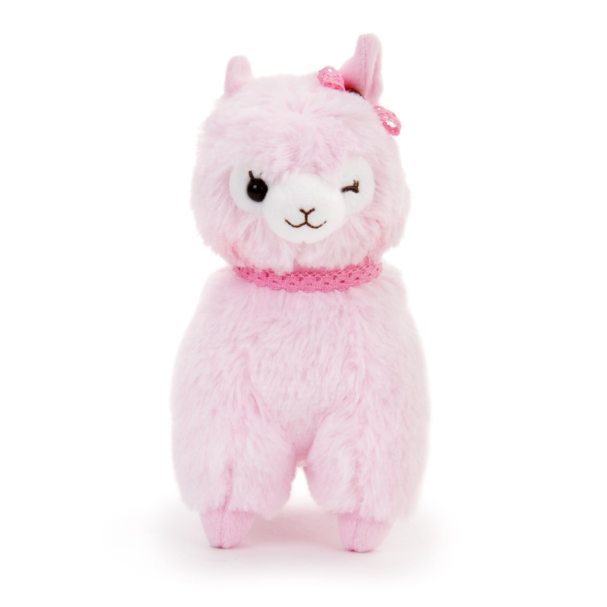 Plush Alpaca, Amuse, Alpacasso, Momo-chan, Pink, 6 Inches