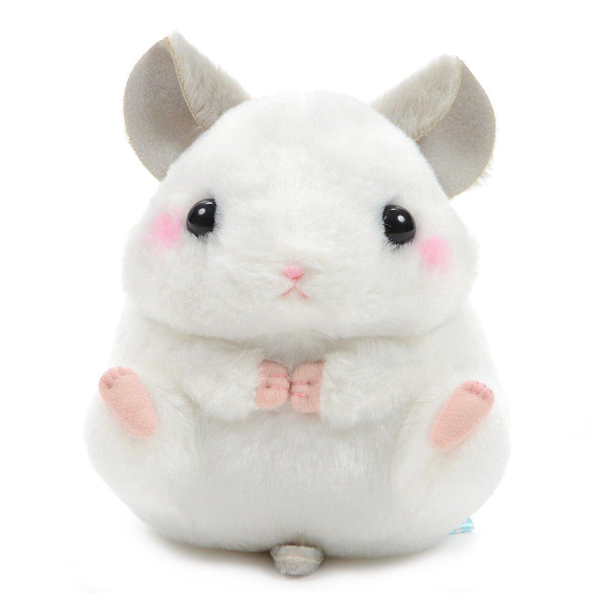 Plush Hamster, Amuse, Coroham Coron, Chira-kun, White, 5 Inches