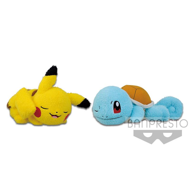 Pokemon Sun & Moon Pikachu Plush Doll Kutsurogi Time Relaxing Time 10 Inches Banpresto