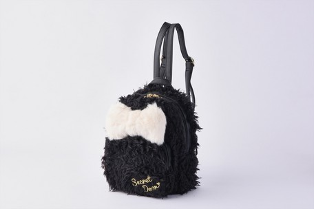 Secret Doom Fur Mini Backpack Black