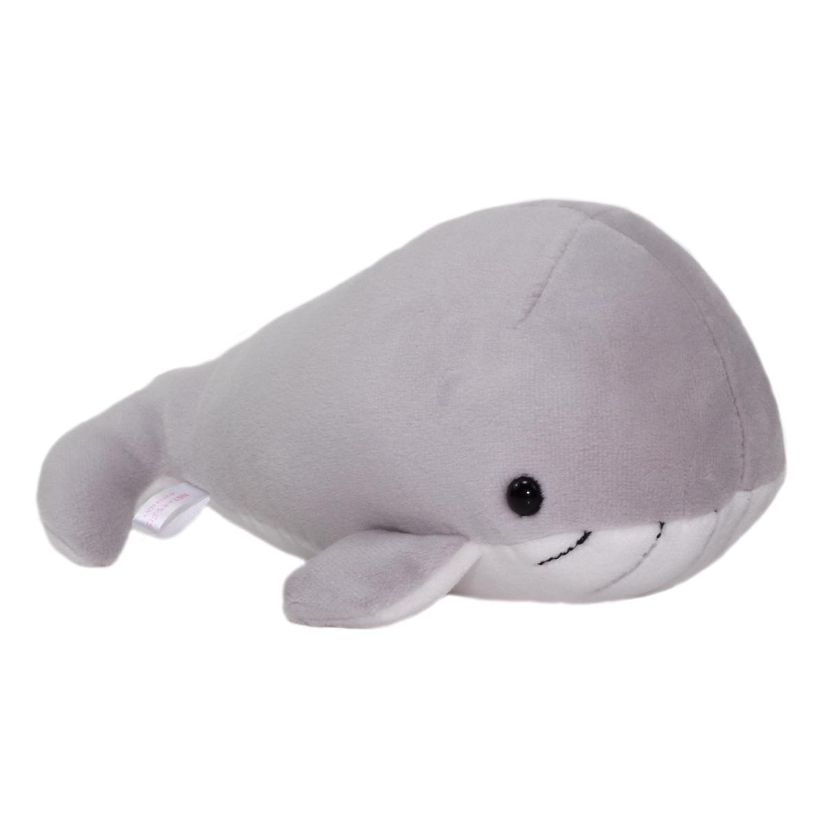 Aquarium Collection Plush Whale Plush Toy Super Soft Stuffed Animal Grey/White Kuzira