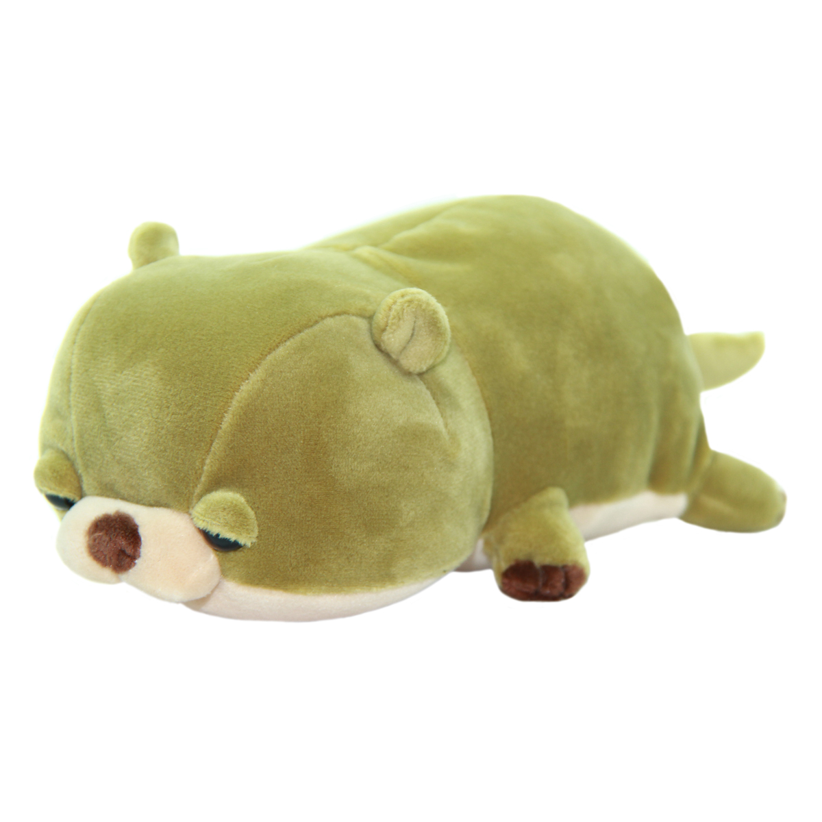 Mochi Puni Kawauso Collection Super Soft Otter Plush Toy Olive Green 8 Inches