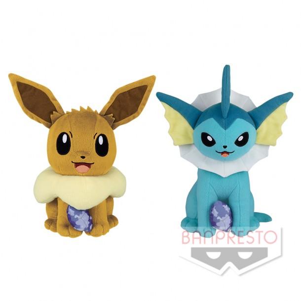 Pokemon Focus  Sun & Moon Vaporeon Plush Doll 10 Inches Banpresto