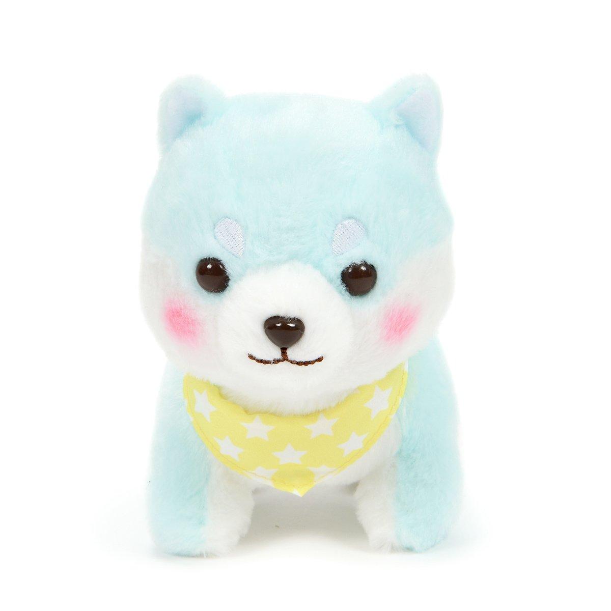 Amuse Dog Plushie, Mameshiba San Kyodai Funwari Yume no Kuni Taiga Pastel Green 5 Inches Standard Size
