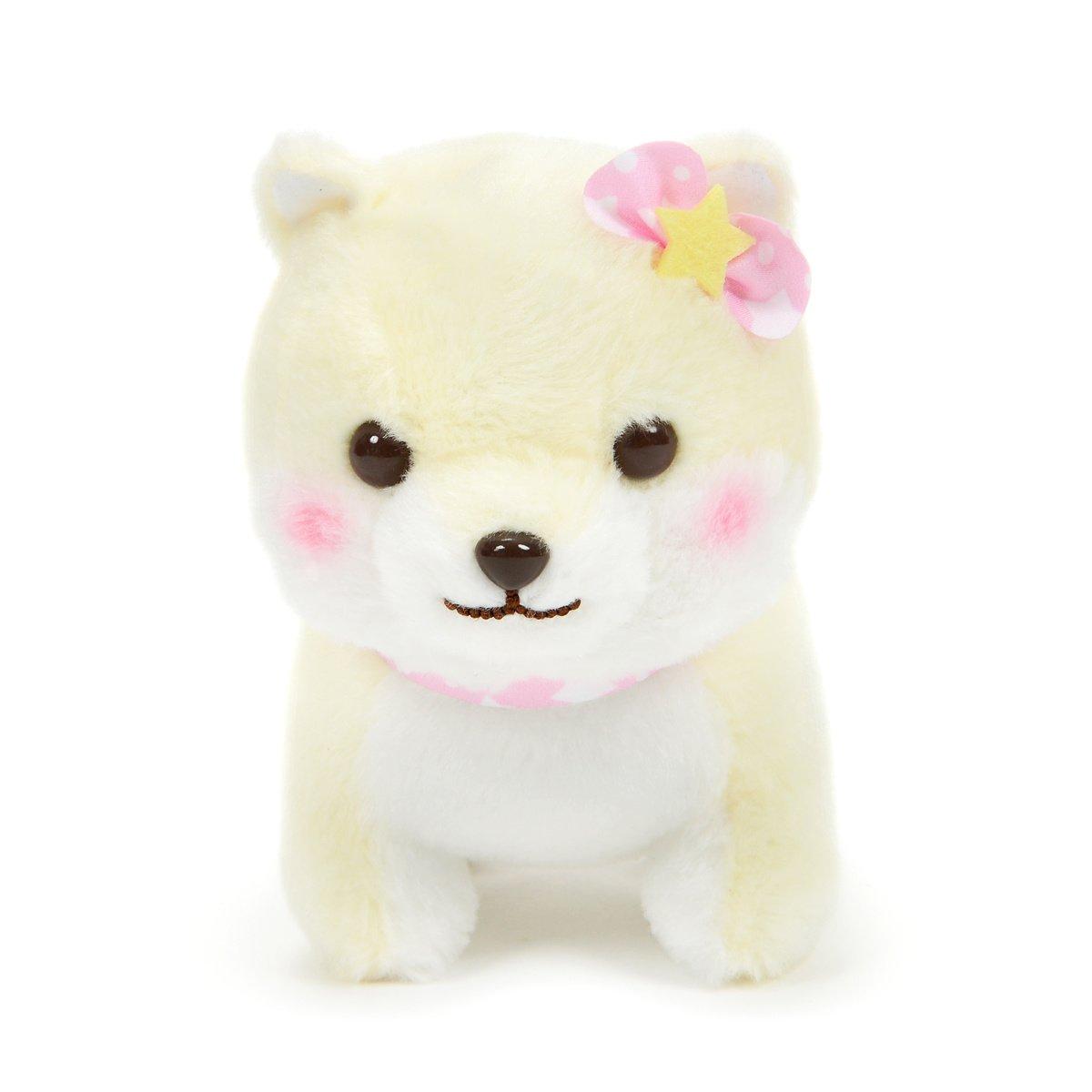 Amuse Dog Plushie, Mameshiba San Kyodai Funwari Yume no Kuni Sakura Pastel Yellow 5 Inches Standard Size