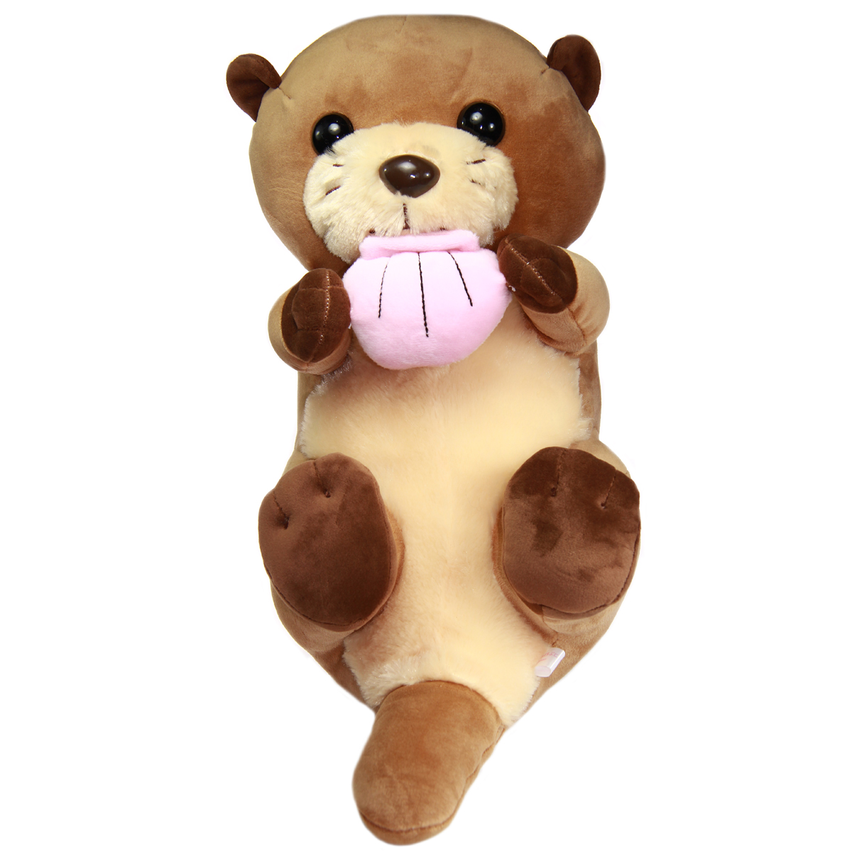 Mochi Puni Kawauso Collection Soft Otter Plush Toy With Sea Shell Brown 17 Inches BIG