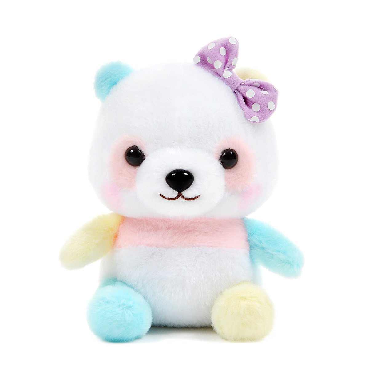 Plush Panda, Amuse, Honwaka Panda Baby, Yume Mix, White Mix, 6 Inches
