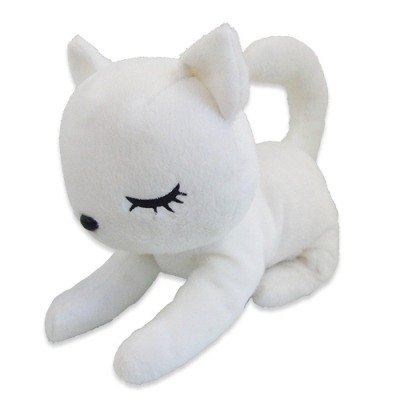 Plush Cat, Naito Design, I Love Pooh Collection, White, 9 Inches