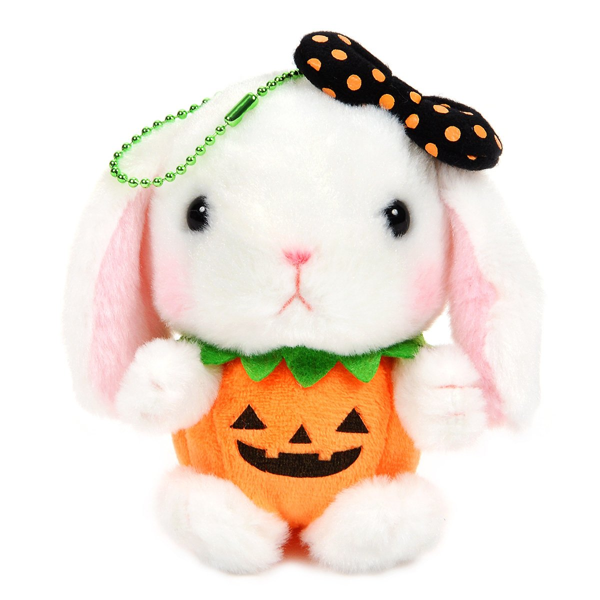 Amuse Halloween Bunny Plushie Cute Stuffed Animal Toy White 4 Inches