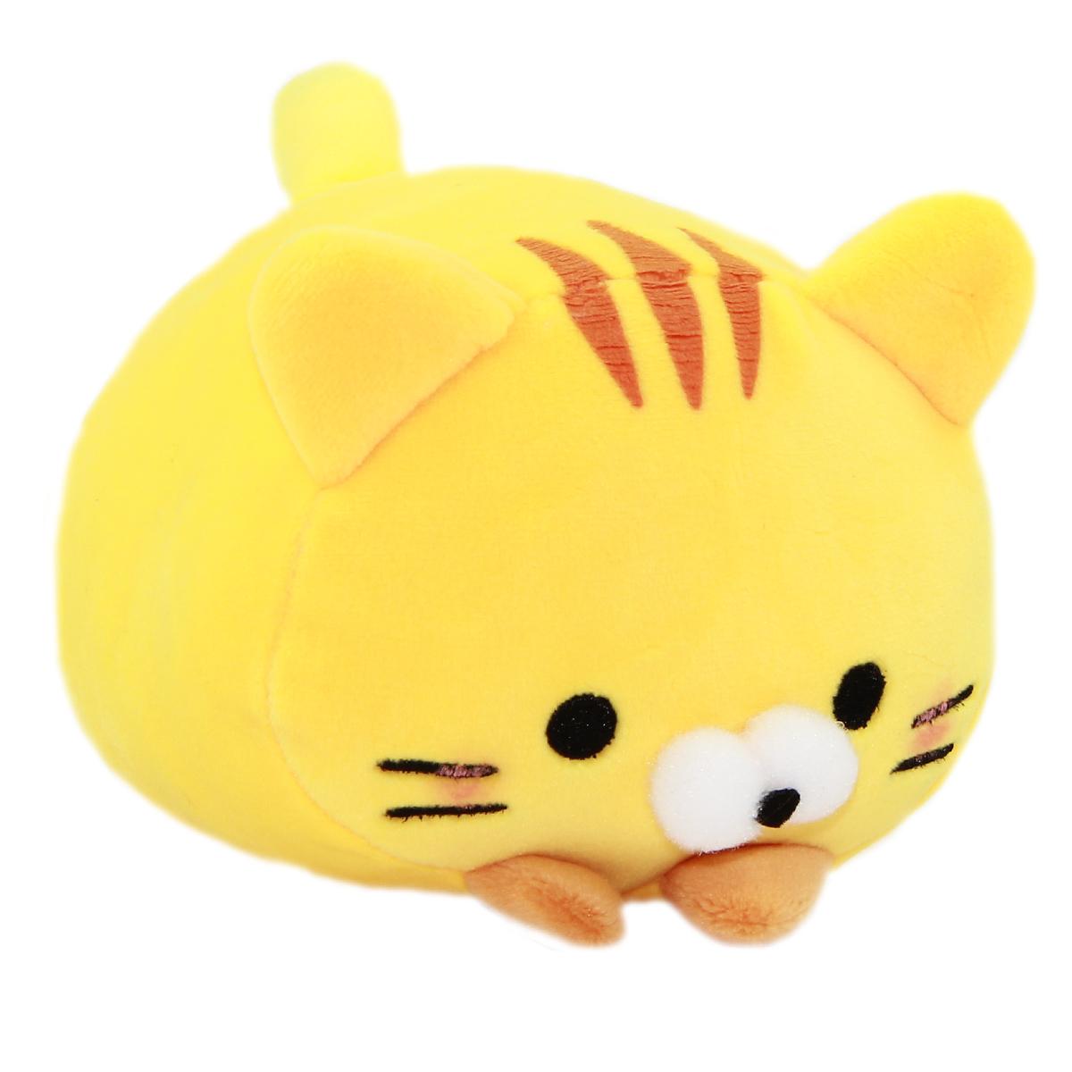 Plush Cat Squishy Toy Super Soft Stuffed Animal Neko Yellow