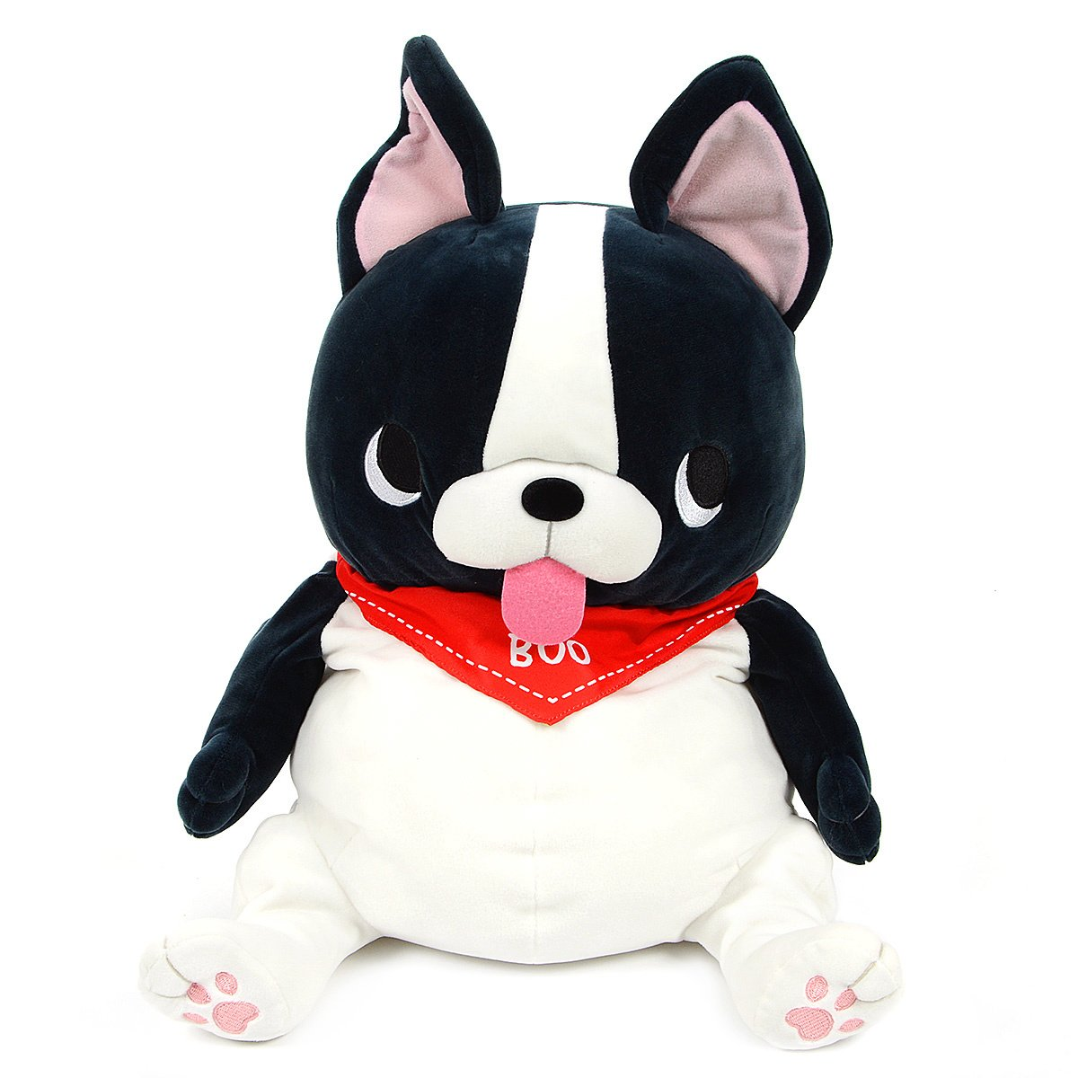Amuse Plush Doll Pug Buruburu Boo! Boo Black / White, 17 Inches Big Size