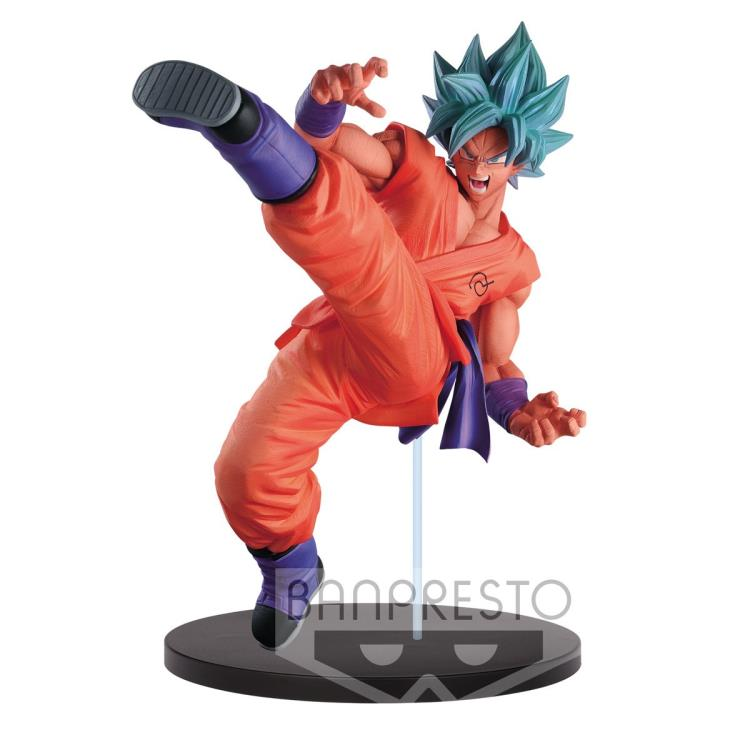 Dragon Ball Super Son Goku FES!! Stage 5 Super Saiyan Blue Kaio-ken Goku Figure Banpresto